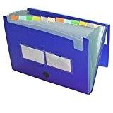 Acropaq 42010 Trieur accordéon à 12 compartiments en polypropylène A4 Bleu