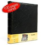Album Photo Simili Cuir Noir 100 pages noires