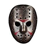 Alxcio Halloween Mask Masque Résine Film Édition Thème Collector Masque d'Halloween pour Cadeau Cosplay Masquerade Costume Party ( Jason, Bronze ...