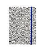 American Crafts Hall Pass adulte Coloriage Cahier avec bande élastique 5x 7bord festonné avec bleu, acrylique, multicolore, 3pièces