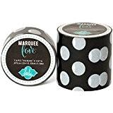 American Crafts Heidi Swapp Marquee Love Washi Tape 2Noir et Blanc Polka Dot, 9