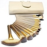 Ammiy® Beauté 18 pcs Maquillage Brosse Set Brosse synthétique Maquillage Professionnel Maquillage Fondation Poudre Blush Eyeliner Brushes + Leather Bag