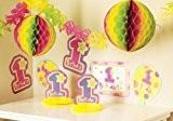 Amscan - 249223 - Décoration de Fête - Kit de Décoration - Happy Birthday - Fille - 1 an