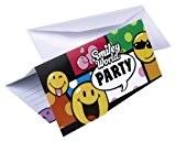 Amscan - 551964 - 6 Cartes d'Invitation et Enveloppes Smiley Comic