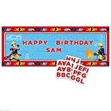 Amscan International 1.2m X 45cm Sam le pompier personnalisé bannières