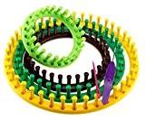 Anneaux à tisser tricotins colorés métiers à tisser/tricoter Kit de Craft Chaussettes Écharpe Chapeau ABS