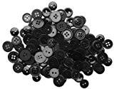Apprêt préférée Bouton boutons, en plastique, noir, 10-15mm, 40g