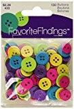 """Apprêt préférée Bouton """"Fun boutons, en plastique, multicolore, Lot de 130"""