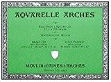 Arches Aquarelle Bloc 20 Feuilles 300g/m² Grain Fin 23 x 31 cm Blanc Naturel