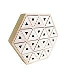 Artemio 14002000 Calendrier de l'Avent à Décorer Hexagone Bois 36 x 6,4 x 31,3 cm