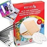 ARTINA - Ensemble pour aquarelle: 15 Pinceaux + table à dessin REEVES A3 + 18 tubes de peinture aquarelle + ...