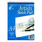Artistes croquis Format A4Pad à spirales-100feuilles (297x 210mm)
