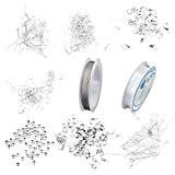 Assortiment Accessoires pour Fabrication de Bijoux Débutant - Couleur Blanc Argenté