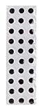 Assortiment de 30 Yeux adhésifs autocollants à pupille mobile de couleur noire 12 mm de diamètre pour loisirs créatifs scrapbooking