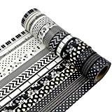 AUFODARA 5 rouleaux Ruban adhésif de décor Washi Tape - Taille par rouleau 15mm x 10m