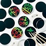 Badges à gratter que les enfants pourront personnaliser (Lot de 10)