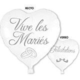 Ballon Hélium Vive les Mariés