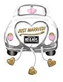 Ballon voiture mariés Just Married XL Non Gonflé