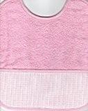 Bavoir à Broder Point de Croix Coloris Rose Taille Naissance / 3 mois