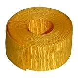 benristraps Sangle polypropylène 50mm, jaune, 10 metres