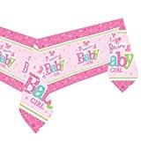 Bienvenue bébé fille rose de douche Nappe en papier 1,37m x 2.59m