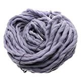 Bluelans Grosse laine douce et très épaisse à tricoter 100% acrylique 250g 35m
