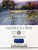 """Boîte de 30 demi-pastels tendres """"à l'écu"""" - sélection Plein Air Paysage"""