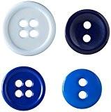 Boutons De Base Préféré Résultats Assortis Tailles 130/Pkg-Bleu