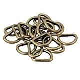 bqlzr Bronze Clair 2,5cm d anneaux bague boucle boucles DIY Accessoires Pour Sacs En Toile en cuir Craft