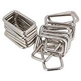 BQLZR Lot de 20anneaux métalliques rectangulaires robustes pour sacs et sacs à main Argenté 3,8cm