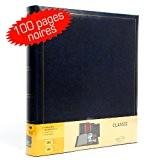 Brepols - Albums photos - Album Photo traditionnel à coller Promo Bleu 500 photos pages noires, Album Photo Brepols