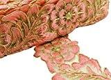 Brodé Matière À Coudre 6,35 Cm Large Garniture En Tissu Crafting Supply Lace Par The Yard