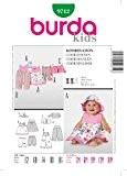 Burda B9712 Patron de Couture Coordonnés 19 x 13 cm