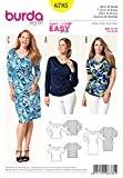 Burda femme Plus Patron de couture facile 6785-Tops & robe Stretch
