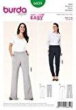 Burda femme Plus Patron de couture facile Pantalon - 6859-Taille élastique