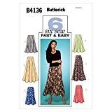Butterick Patron de couture femme Jupe évasée Empiècement 4136-Tailles :  36/40