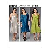 Butterick Patterns Mesdames Patron de Couture Facile 6283Coupe ample pour femme robe + sans Minerva Crafts Craft Guide