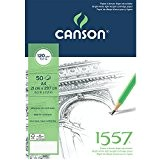 Canson 1557 204127408 Papier à dessin Grain Léger Blanc Pur