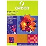 CANSON papier 200992700cristal 21x 29,7cm A4Rouge/jaune/bleu/violet/vert foncé, 40g/m²