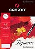 Canson Pochette Beaux Arts 400056421 Papier à dessin Grain toile de lin Blanc Naturel