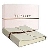 Capri Album Photo en Cuir de fabrication Artisanale Italienne, A4 (23x30 cm) Blanc