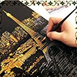 Caxmtu Magic Scratch Night View Art Cartes Postales London Paris City Dessin Jouets pour enfants 41 cm x 28.7 cm