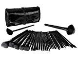 CDC® 32pcs pinceau de maquillage professionnel fibres synthétiques brosses à cheveux de maquillage Kit avec Crocodile Sac de Voyage