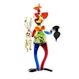 Circus Clown Holding Rabbit Multiple Colors Murano Art Glass Figurine by ART GLASS