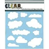 Claire Scraps pochoirs 6 « X 6 »-nuages