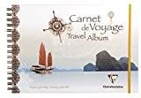 Clairefontaine 96077C Carnet de Voyage Dessin à Elastique A4 30 Feuilles 180 Grammes - Chine