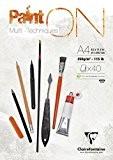 Clairefontaine - Bloc Paint'On- 96537C - Feuilles Encollées - 250 Grammes - A4 - Blanc