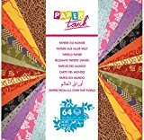 Clairefontaine Papier Touch Diverse de sur tout le monde et Maxi Pad papiers, multicolore, 30x 30cm, feuilles de 64