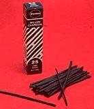 Coates Lot de 25 Crayons fusains 2-3 mm Noir