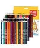 Cobee Crayon de Couleur 72pcs Crayon de Coloriage Art Crayon Coloré Founiture d'Ecole pour Peinture Artiste Etudiant